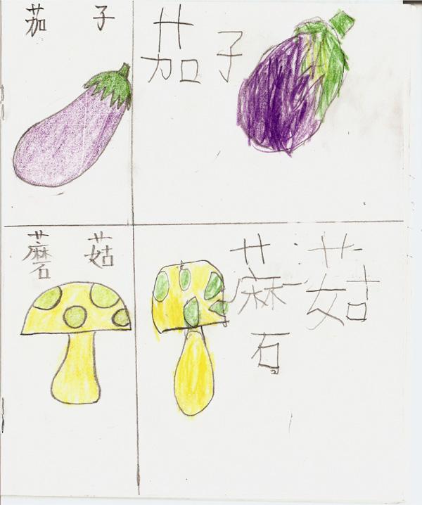 简笔画 茄子 蘑菇--辽宁省鞍山市天使之翼孤独症儿童