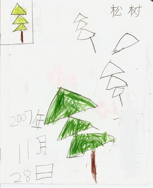 雪人松树简笔画内容图片展示