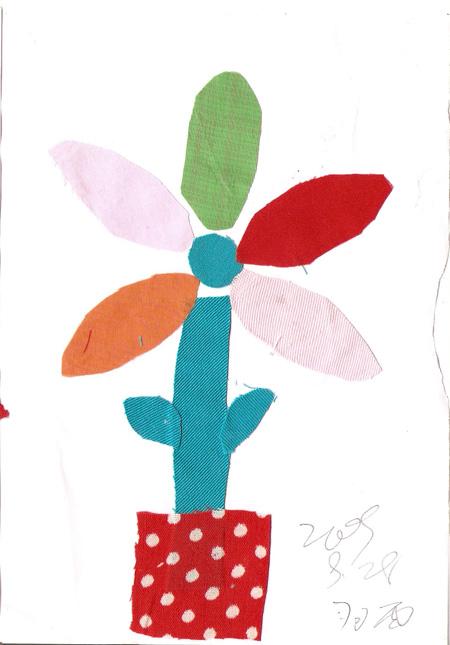 布贴画(三)花--辽宁省鞍山市天使之翼孤独症儿童培训